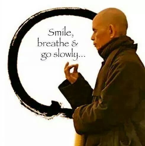 Een glimlach tijdens meditatie
