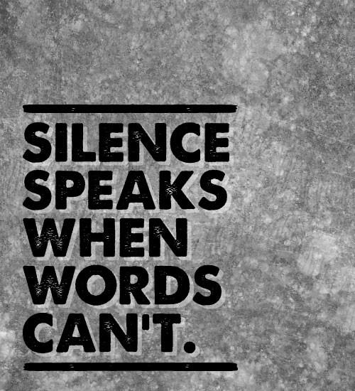 Laat de stilte spreken