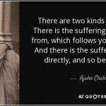 De Eerste Nobele Waarheid er is lijden