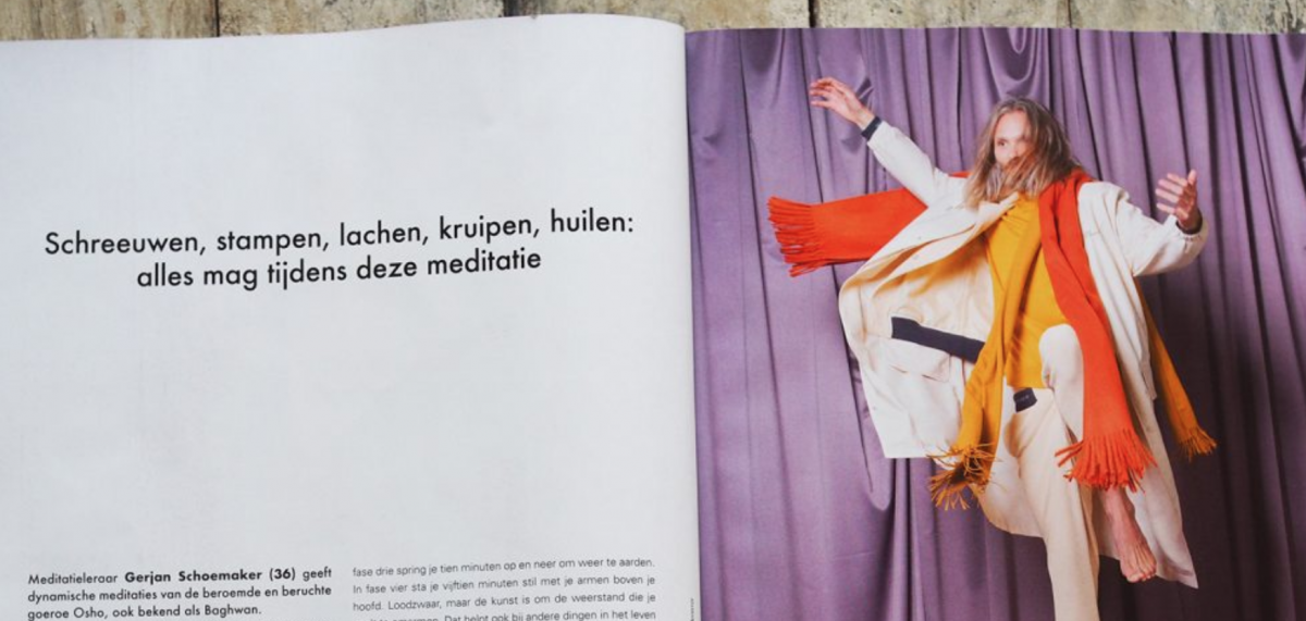 Interview Gerjan Schoemaker in &C Magazine over Osho Dynamic meditatie
