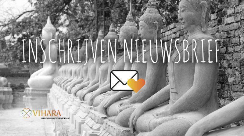 inschrijven nieuwsbrief meditatiedagen retraites