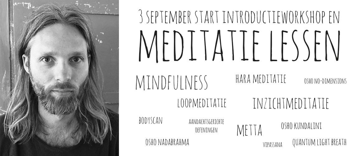 3 September 2018 start nieuwe meditatielessen in Zwolle