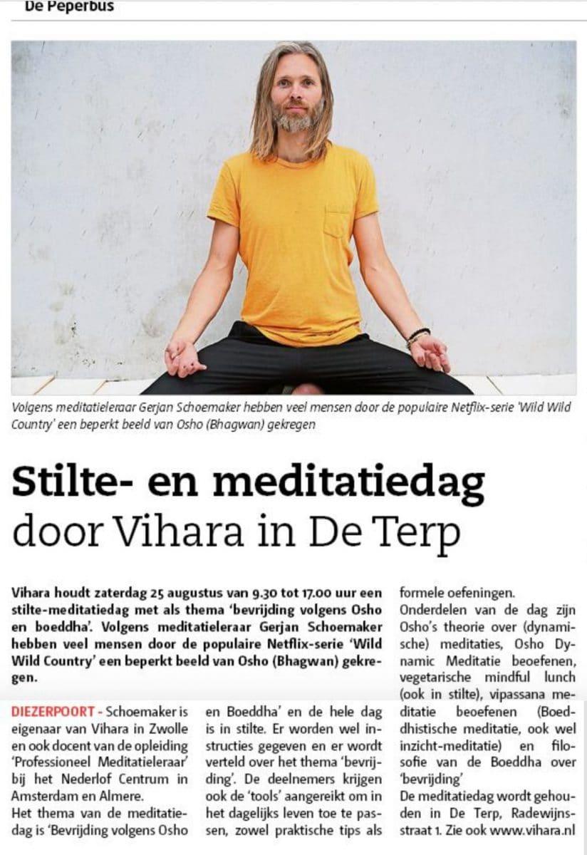 Persbericht meditatiedag 2018 Peperbus Zwolle