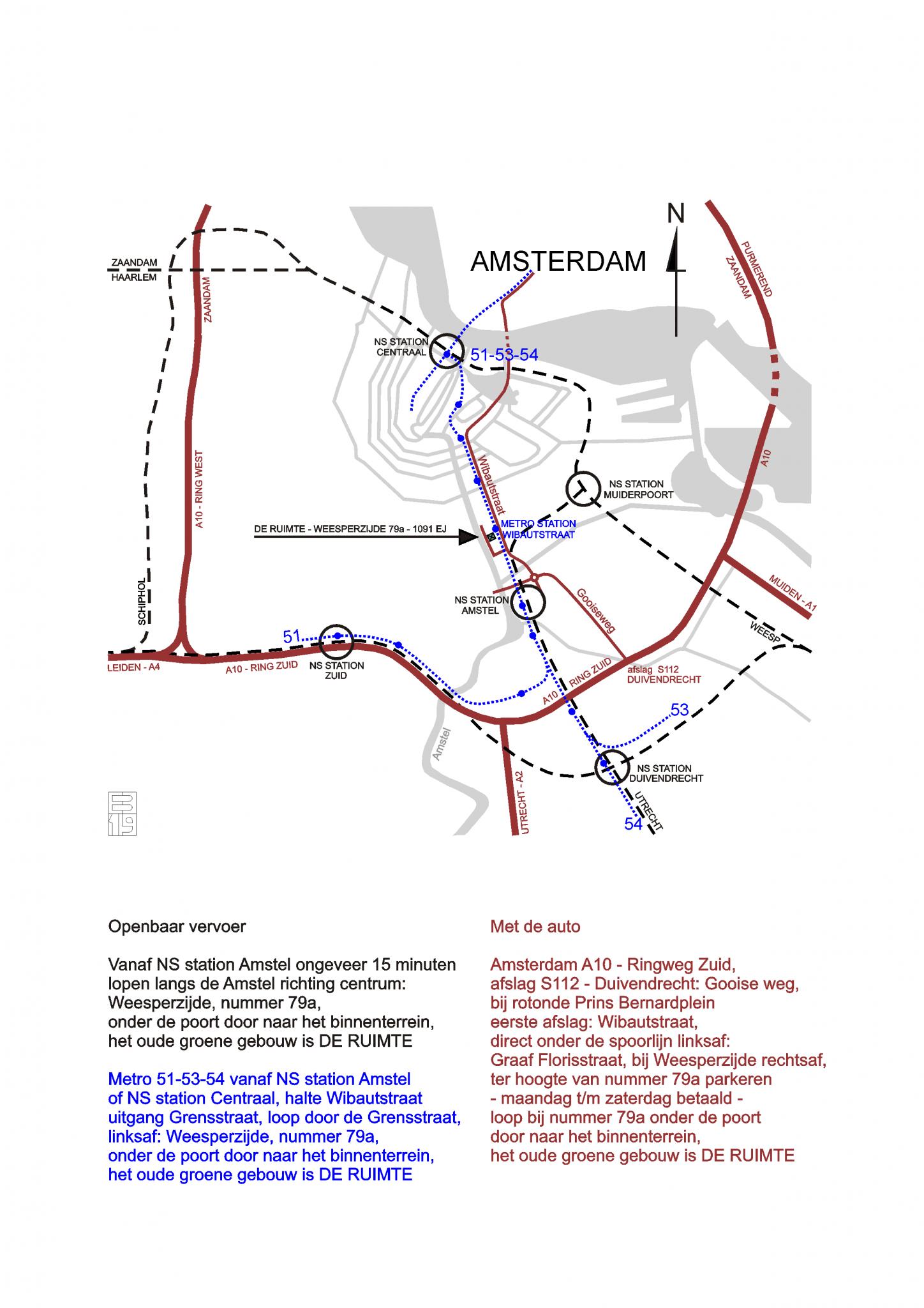 Routebeschrijving De Ruimte Amsterdam