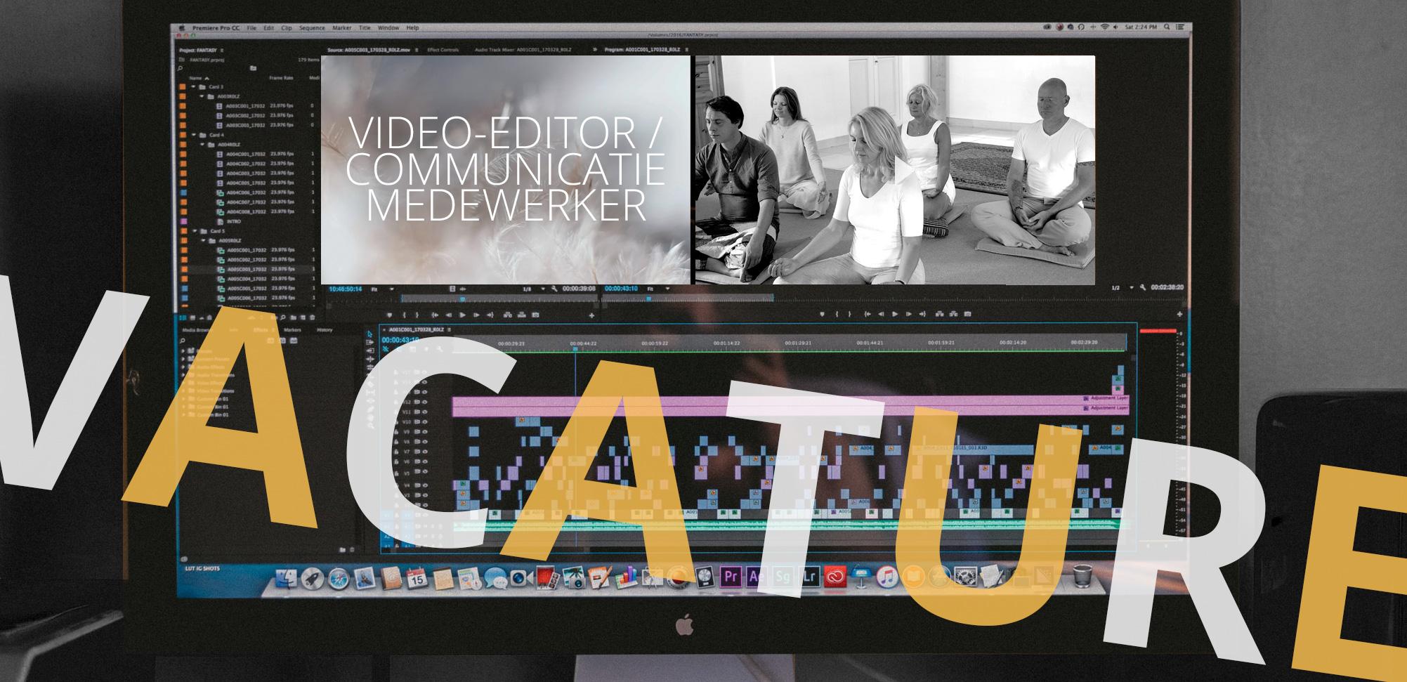 vacature video editor